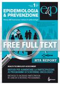 Report HTA - supplemento 1 n°1 Gennaio-Febbraio 2012
