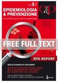 Report HTA - supplemento 2 n°5 Settembre-Ottobre 2012