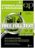 Report HTA - supplemento 3 n°5 Settembre-Ottobre 2012