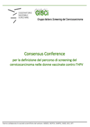 Documento finale della Consensus Conference