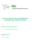 Test HPV validati per lo screening del carcinoma della cervice uterina - Documento ONS-GISCi Rapporto N 6-2021