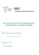Test HPV validati per lo screening del carcinoma della cervice uterina - Documento ONS-GISCi Rapporto N 5-2020